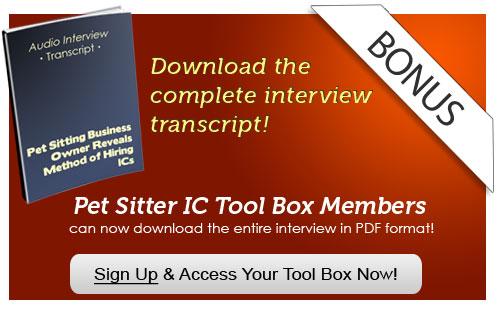 pet sitter tool box