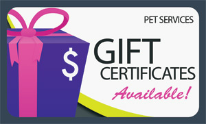 offer gift certificates to pet owners