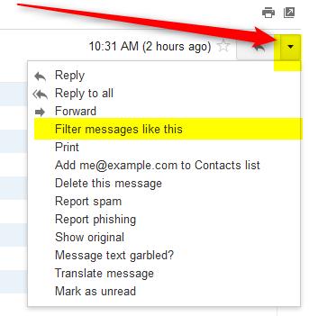 set up a gmail filter to prevent spam folder