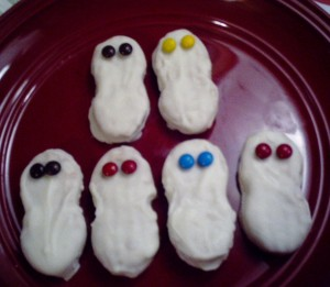 scary ghost cookies