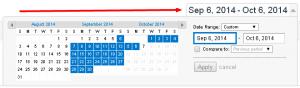 Google Analytics Calendar View