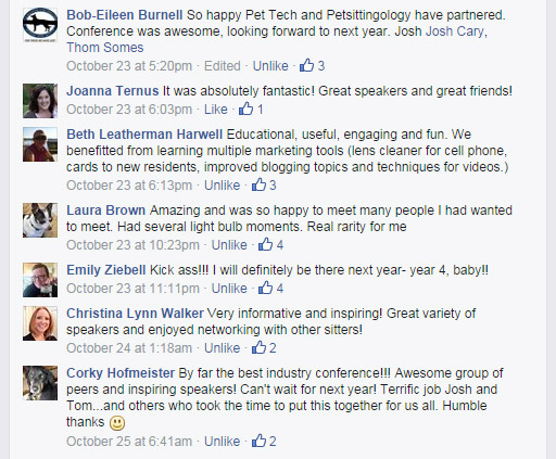 Facebook Feedback from Conference Attendees