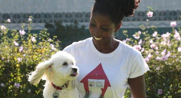 Tomika Bruen and Dog photo