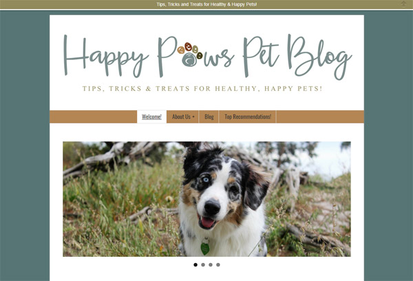 Happy Paws Pet Blog screenshot