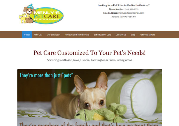Menlys Pet Care screenshot