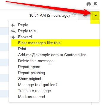 set up a gmail filter to prevent spam folder