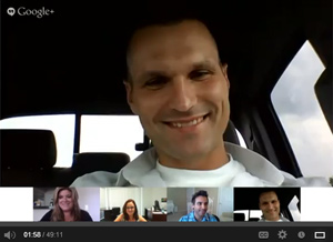 Google Hangout screenshot