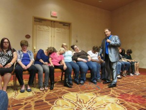 pet sitters are hypnotized at show