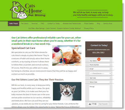 cats only website image