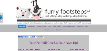 millicent pet sitting website image