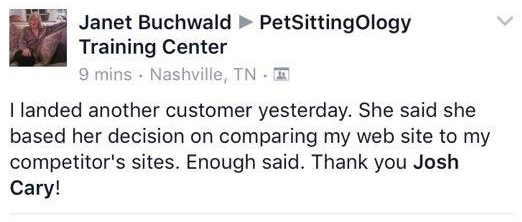 PetSittingOlogy review from happy client
