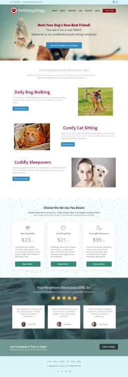 website layout mockup screenshot