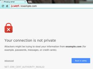 insecure SSL certificate